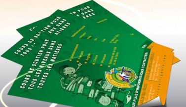 Flyer pour l'école « LES INTELLIGENTS »