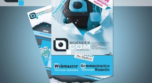 Flyer pour l'institut SCIENCES COM